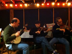 Birthday Celebrant Sefan Keydel jams with his friends at The Writing Barn