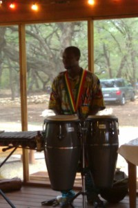Musician Abu Sylla plays at The Writing Barn